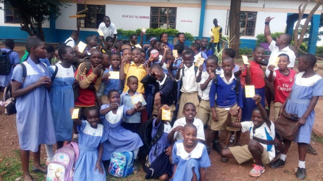 Members of Smart Club Makerere COU Primary School