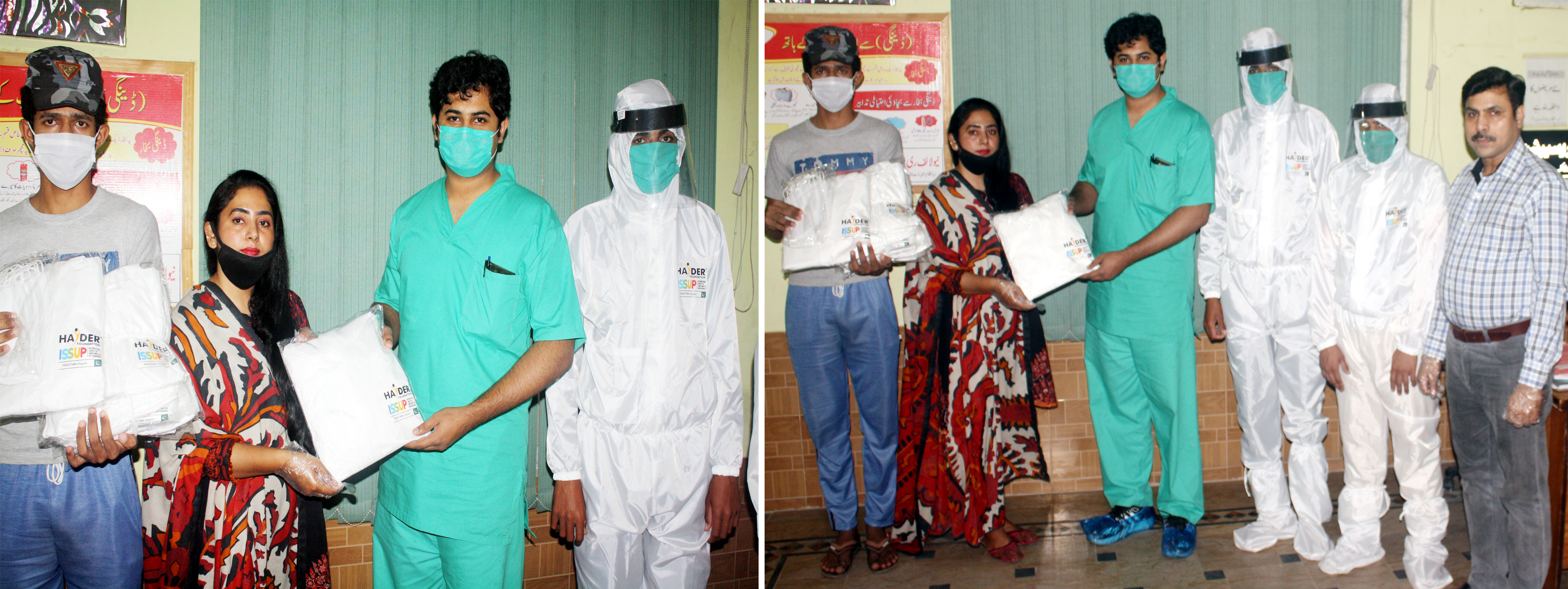 Distribution of PPE Suits to Equip Hospital Staff and Sanitary Workers for the Fight Against Coronavirus BY ISSUP Pakistan
