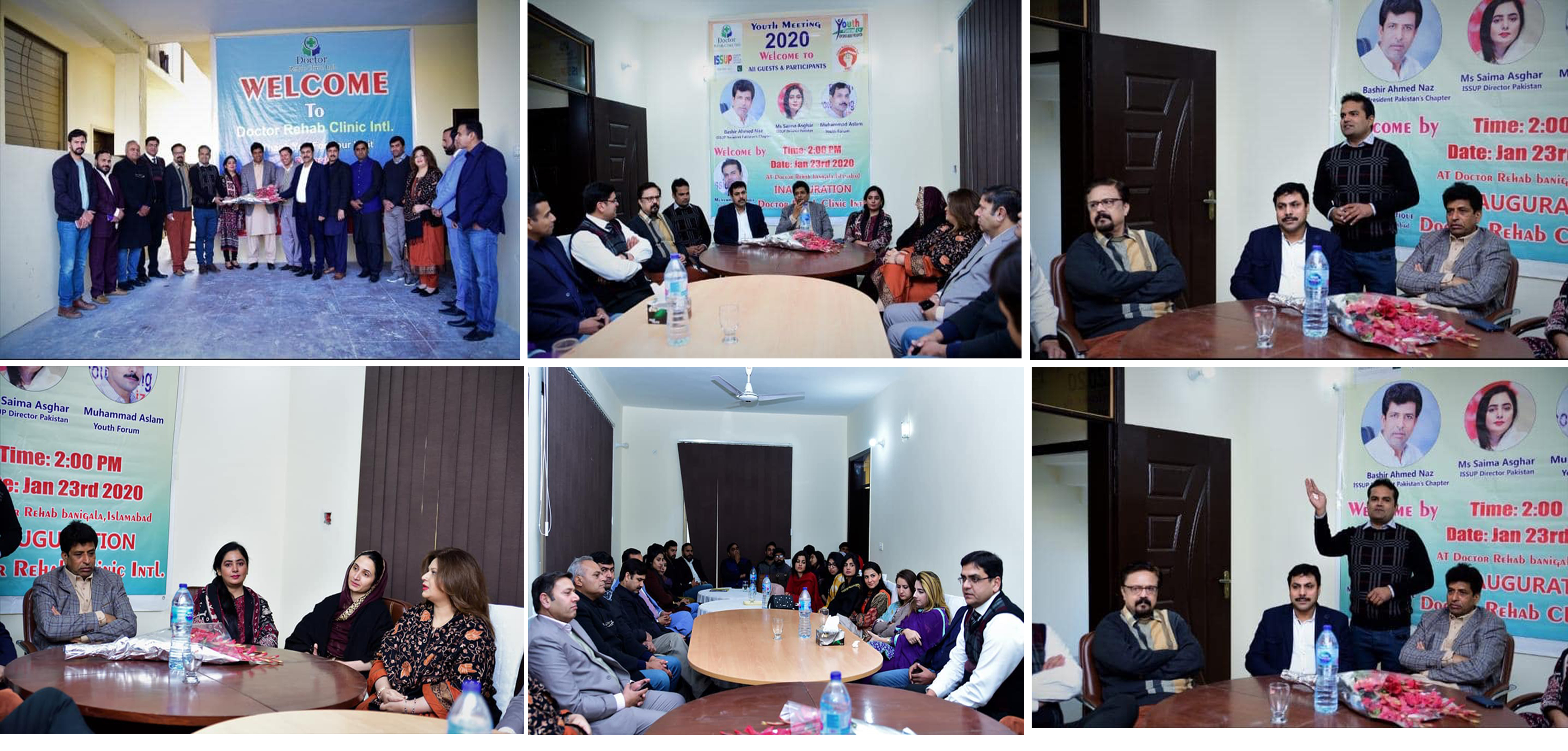 Inauguration of New SUD Treatment Facility ''Dr. Rehab Clinic International'', Islamabad and Meeting with ISSUP Members & Youth Forum Pakistan's Team Islamabad