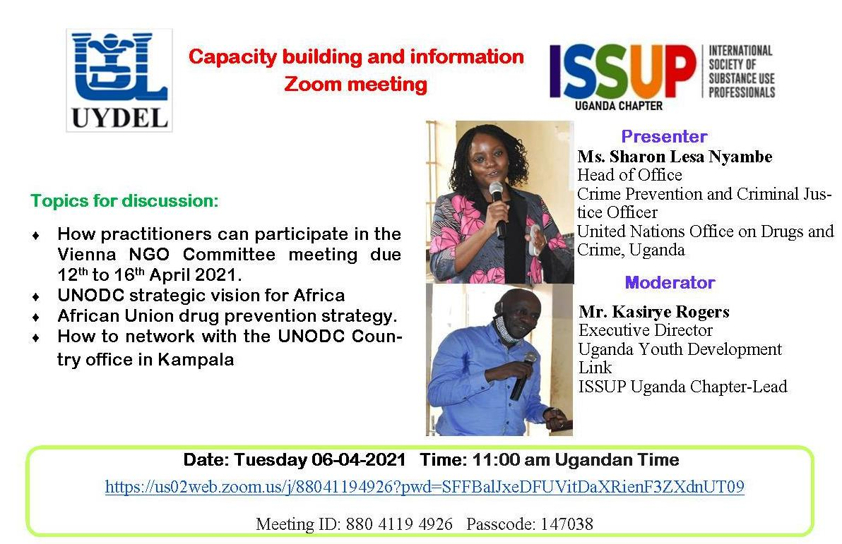 Capacity building and information Zoom meeting