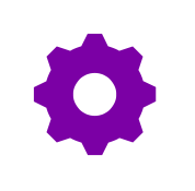 network purple cog