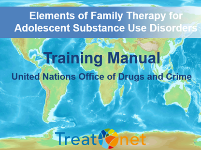 The UNODC training package on family therapy (UNFT) will contribute to make elements of evidence-based, practical and scalable family therapy available to treatment practitioners worldwide and thereby increase the accessibility, quality and diversity of drug use disorder treatment for youth, including youth at risk of or already in contact with the criminal justice system. The training package - being developed as part of UNODC's Treatnet training strategy - was piloted in three regions in Asia, and will be further tailored to meet the needs and cultural contexts of the countries implementing.
