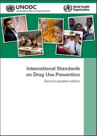 Cover of the UNODC/WHO International Standards on Drug Use Prevention - Second Updated Edition