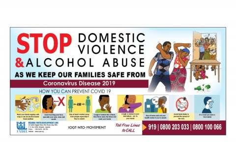 Stop domestic violence and alcohol abuse as we protect our families from COVID-19
