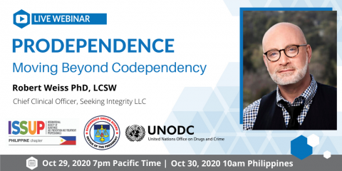 ISSUP Philippines Prodependence: Moving Beyond Codependency Webinar Flyer