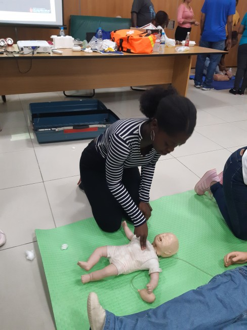 CPR on a baby
