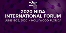 Graphic Showing the dates -- June 19-22, 2020 -- and location -- Hollywood, Florida -- of the 25th NIDA International Forum