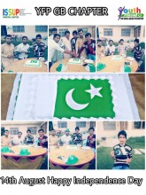 Youth Forum Pakistan's Team Gilgit (Batistan Province) & ISSUP Members celebrated Pakistan Independence Day, 2020 in Collaboration with ISSUP Pakistan