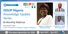 Bi-Monthly ISSUP Nigeria Knowledge Update Series Flyer