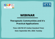 ISSUP India Therapeutic Communities Webinar Flyer
