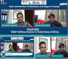 "ISSUP Pakistan Chapter and Youth Forum Pakistan (For Drug Use Prevention) Conducted A Live session On! ''INTRODUCTION TO MOTIVATION AND STAGES OF CHANGE"" on Dated 17th December, 2020."