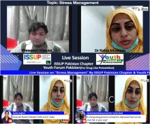"Live Session on ""STRESS MANAGEMENT"" By ISSUP Pakistan Chapter and Youth Forum Pakistan on Dated 12th December, 2020."
