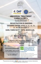 Utc 3 training plus HIV  Registration  http://bit.ly/2MTSOb8 * issup members - present your certificate or ID and pay only early bird rate of P 8000.00